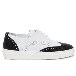 Sneakersy damskie APIA X7898 Nero/Bianco
