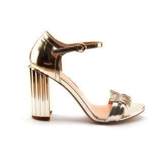 Sandały damskie na słupkowym obcasie APIA Napoli Platino