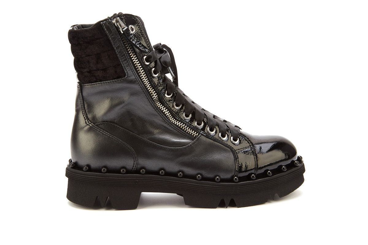 d78e9b7d9ff1 Women s Lace Up Platform Boots APIA Nowa Nero - Women s Work Boots ...