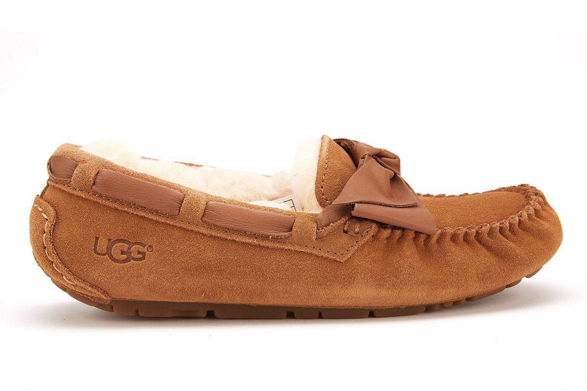 Women insulated loafers ugg dakota leather bow chestnut women jpg 1200x800 Ugg  loafers c609dffdf