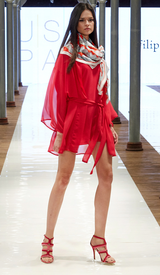 różowe sandały na szpilce APIA sukienka Just Paul TUTU