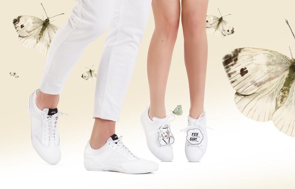 bielinek kapustnik bok sneakersy kolekcja APIA