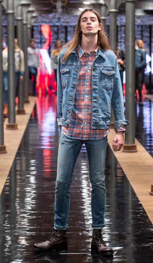 workery botki sznurowane APIA jeans Wrangler